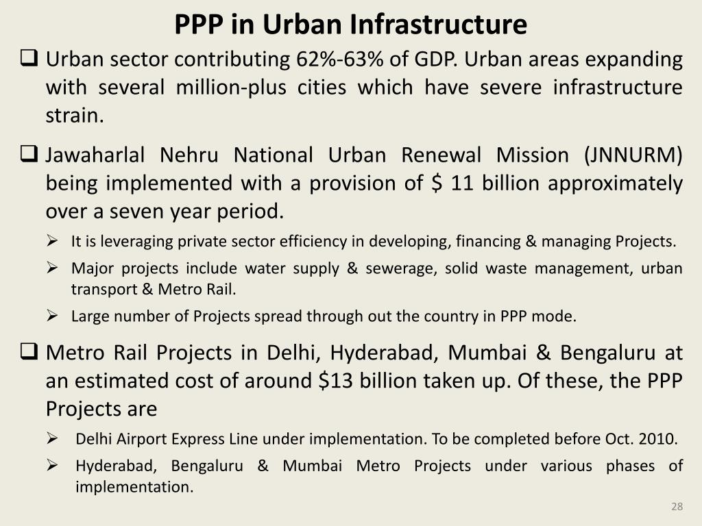 PPP in Urban Infrastructure