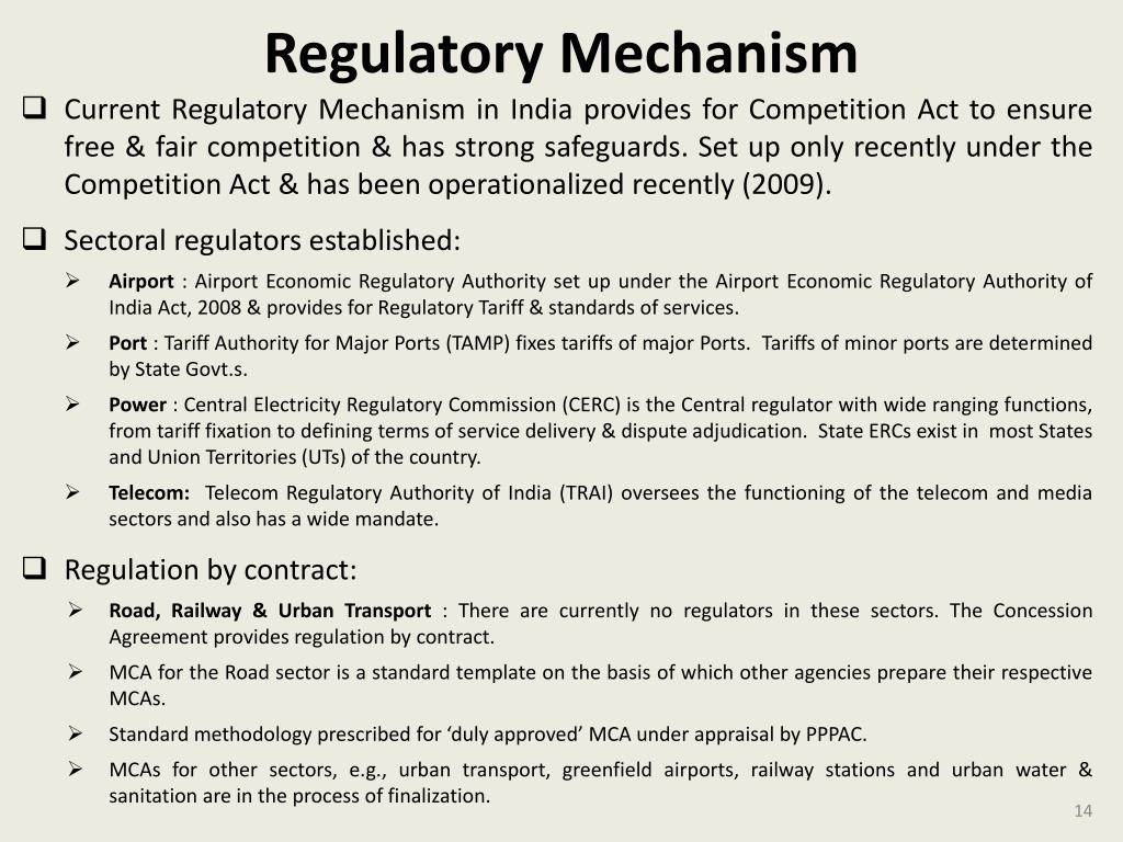 Regulatory Mechanism