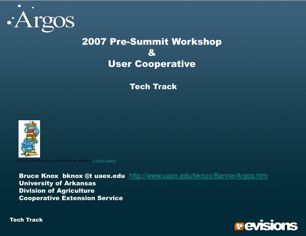 2007 Pre-Summit Workshop
