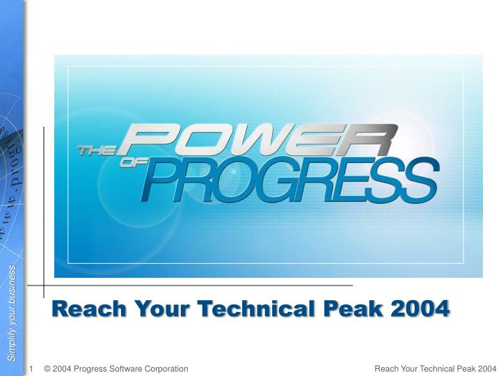 Reach Your Technical Peak 2004
