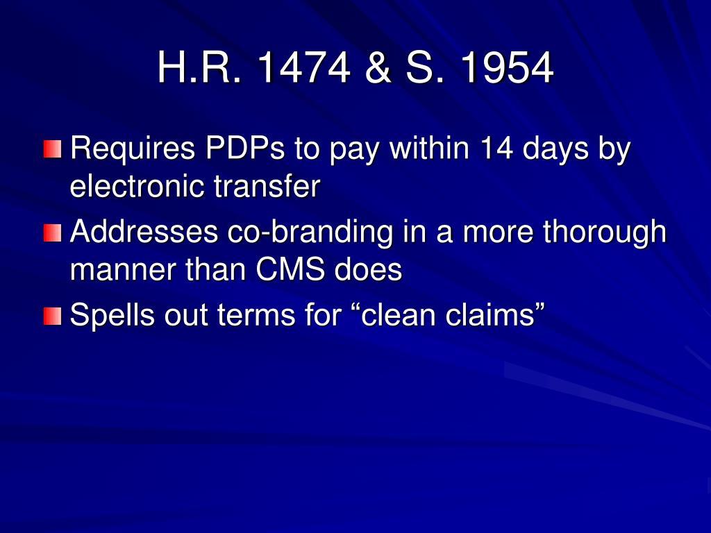 H.R. 1474 & S. 1954