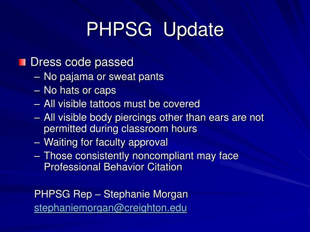 PHPSG  Update