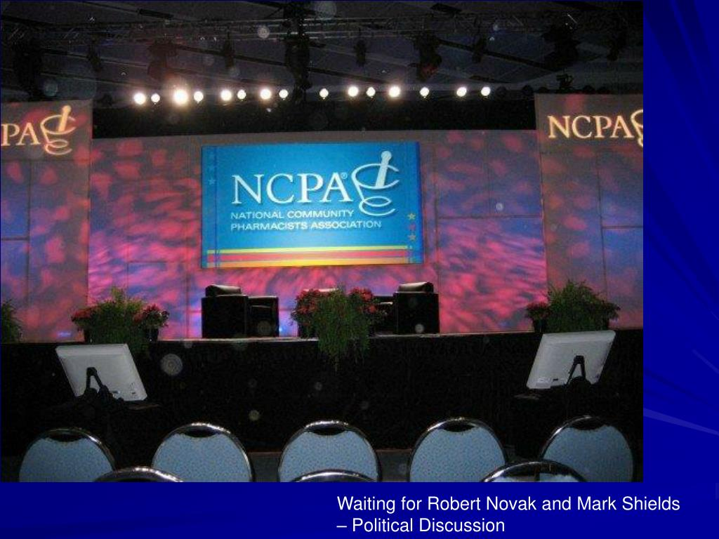 Waiting for Robert Novak and Mark Shields – Political Discussion