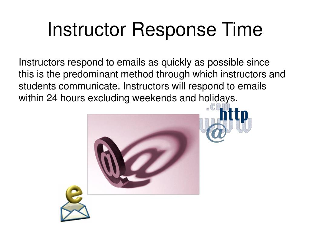 Instructor Response Time