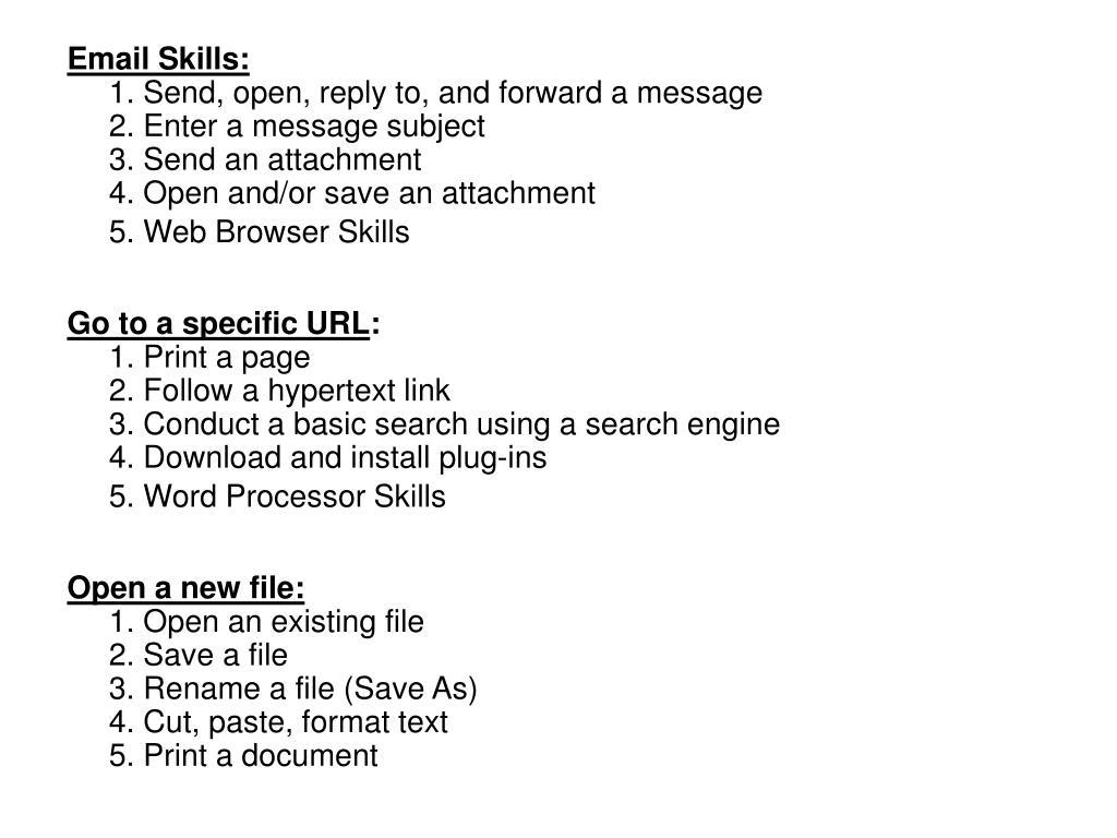 Email Skills: