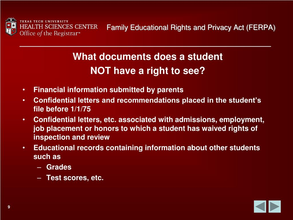 Family Educational Rights and Privacy Act (FERPA)