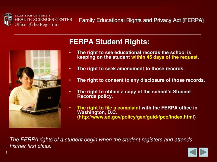 Family educational rights and privacy act ferpa3