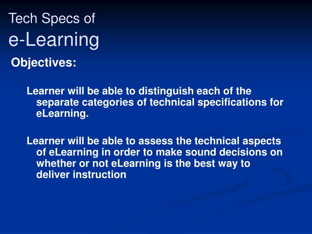 Tech Specs of