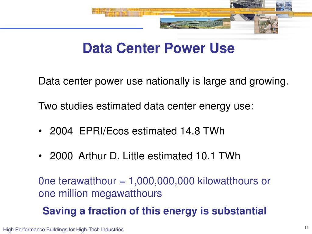 Data Center Power Use