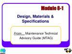 design materials specifications