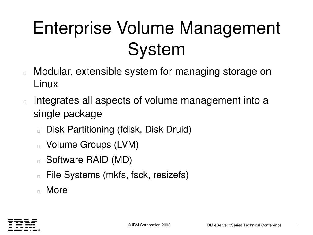 Enterprise Volume Management System