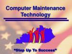 computer maintenance technology