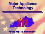 major appliance technology