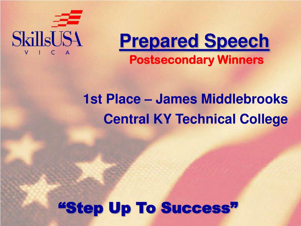 Prepared Speech