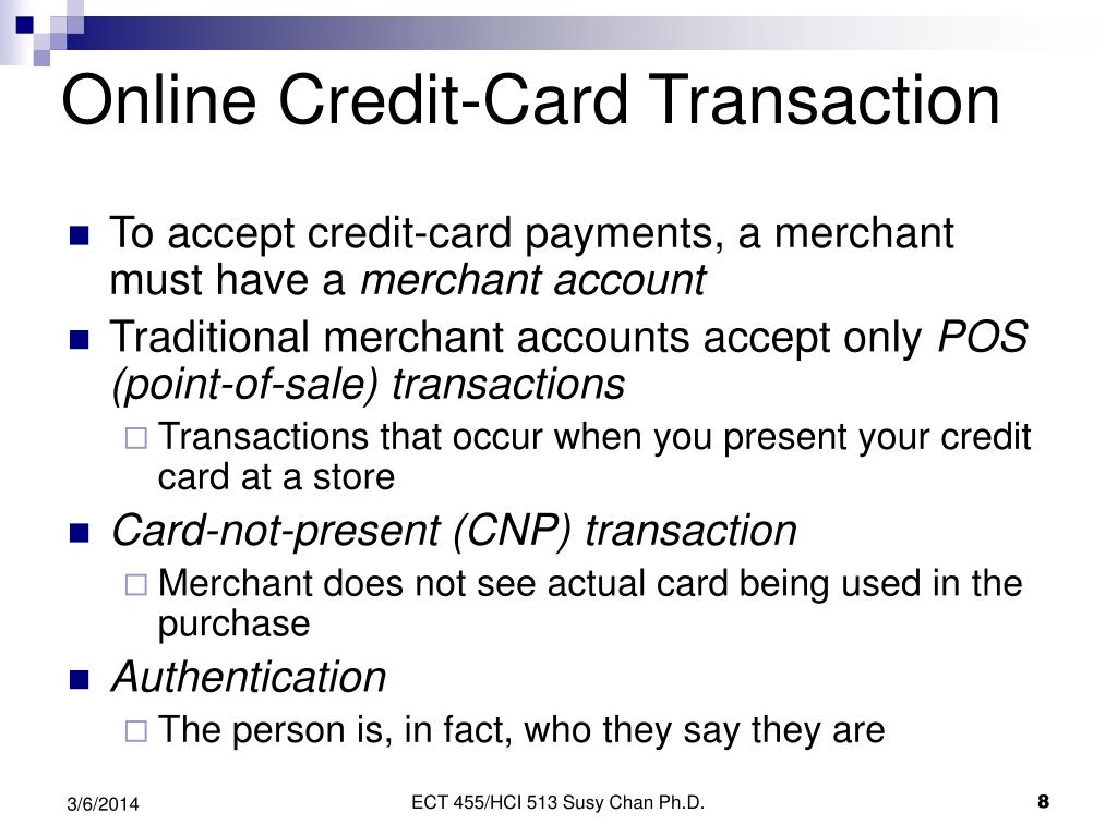 Online Credit-Card Transaction