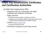 public key infrastructure certificates and certification authorities