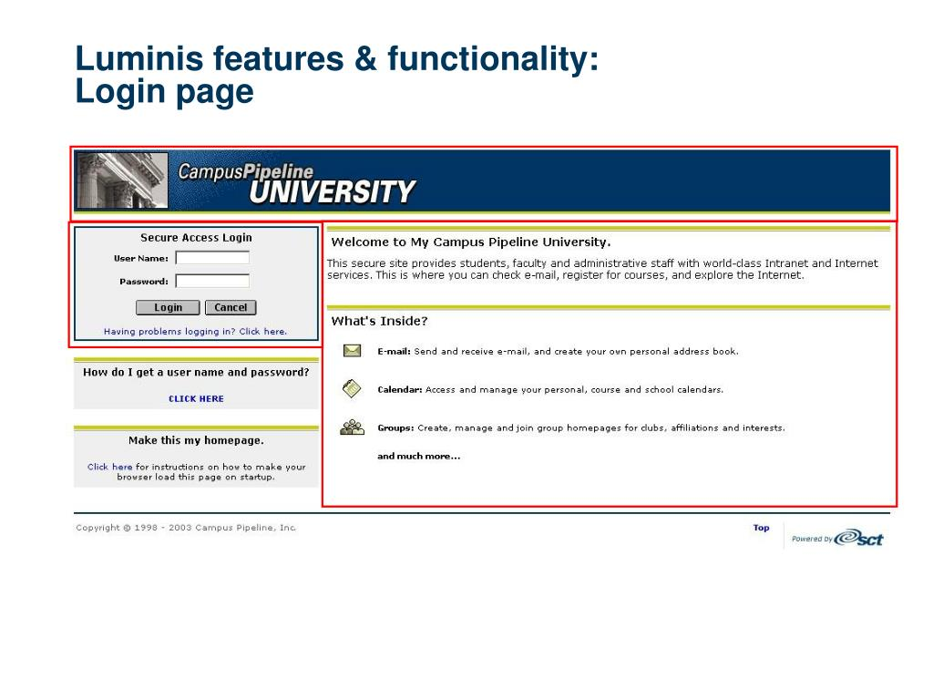 Luminis features & functionality: