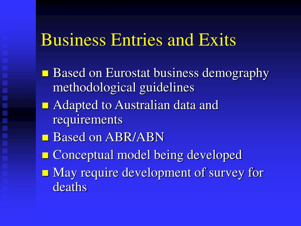 Business Entries and Exits