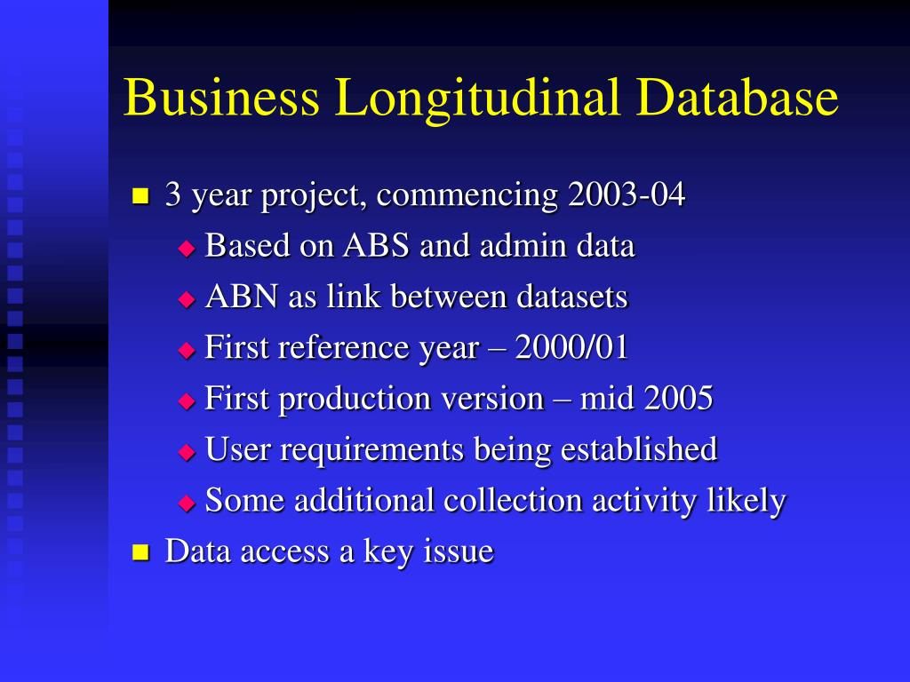 Business Longitudinal Database
