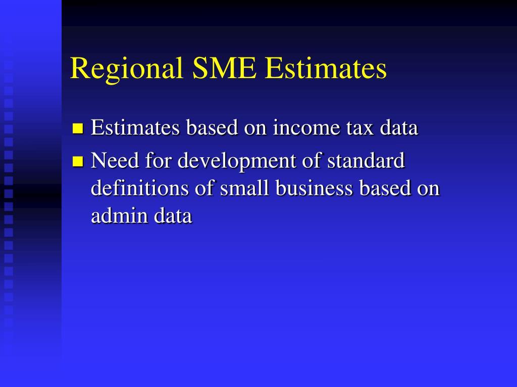 Regional SME Estimates