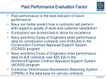 past performance evaluation factor12