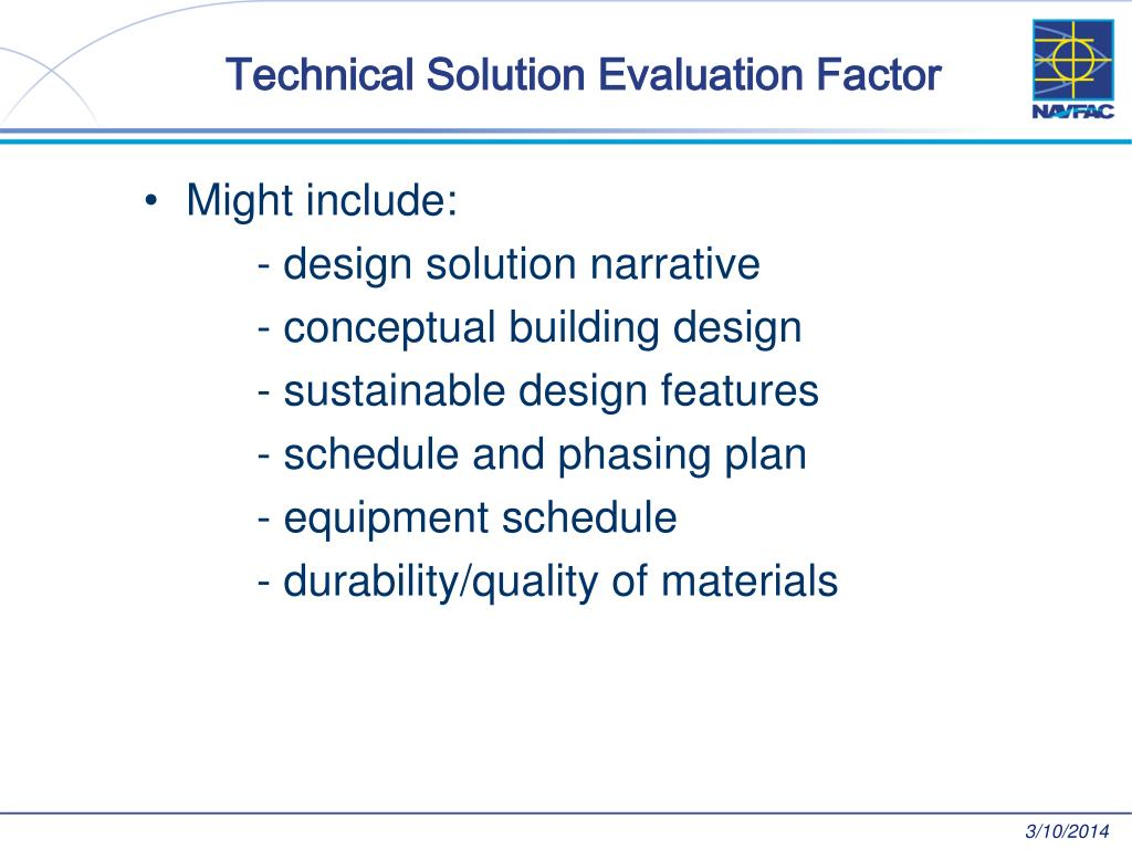 Technical Solution Evaluation Factor