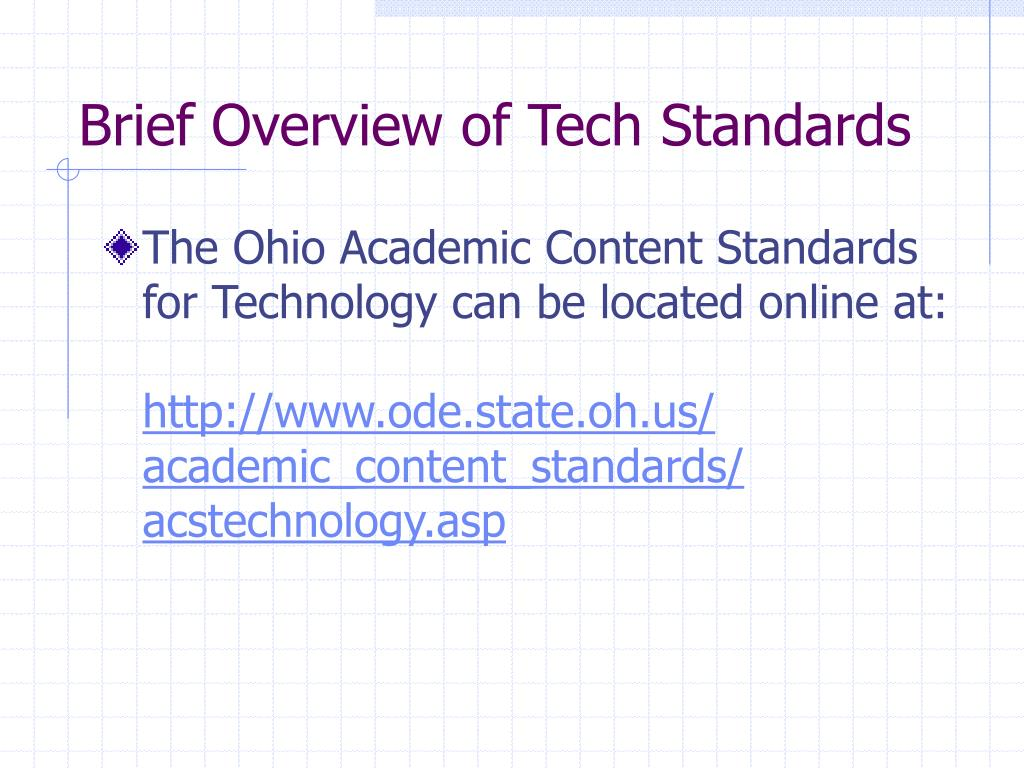 Brief Overview of Tech Standards
