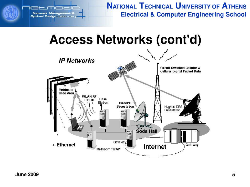 Access Networks (cont'd)