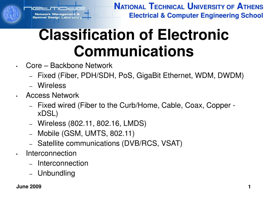 Classification of Electronic Communications