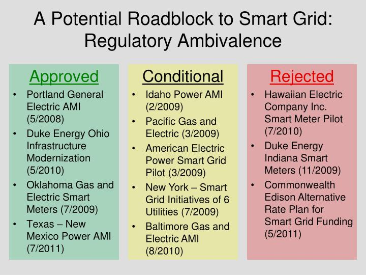 A potential roadblock to smart grid regulatory ambivalence