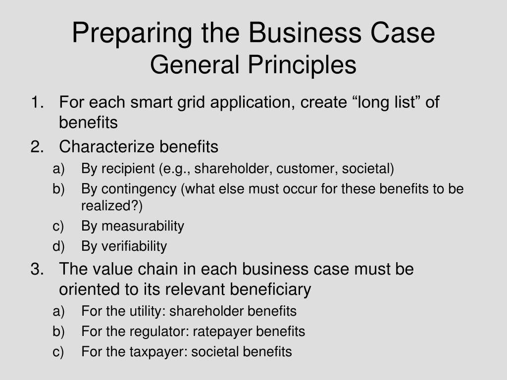 Preparing the Business Case