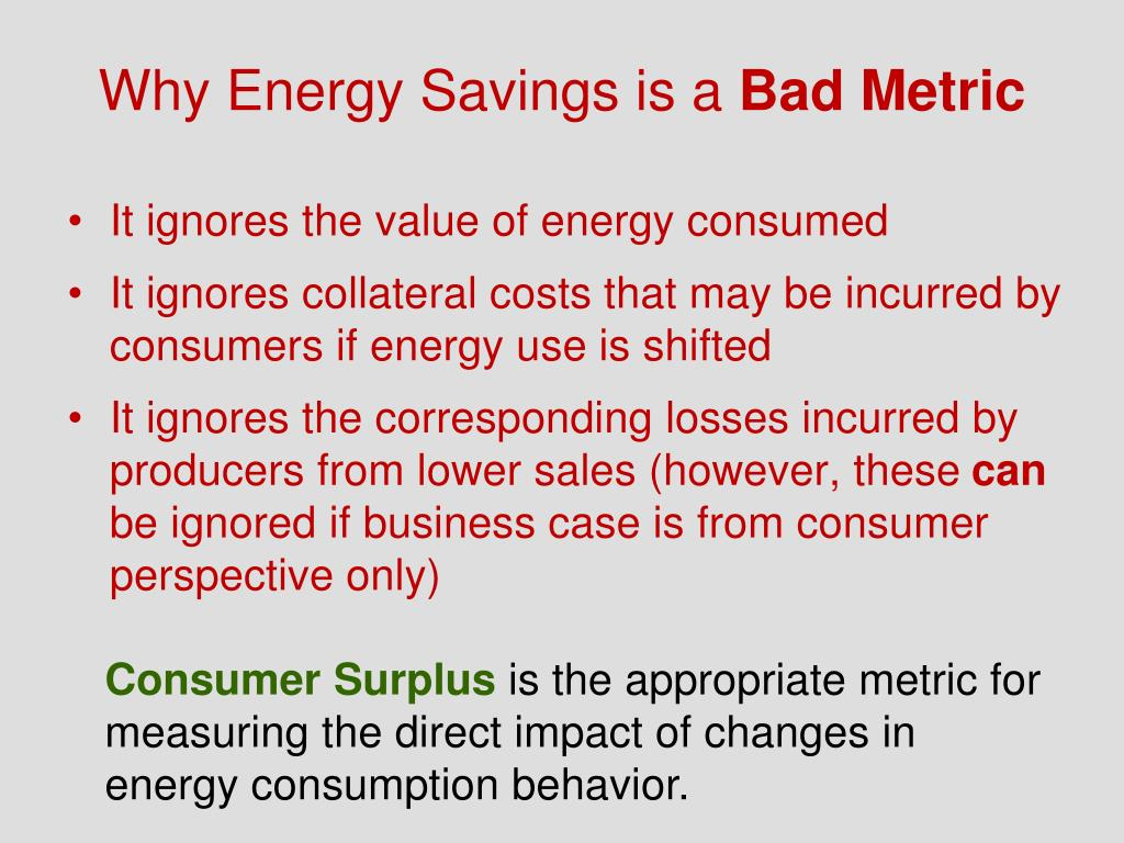 Why Energy Savings is a