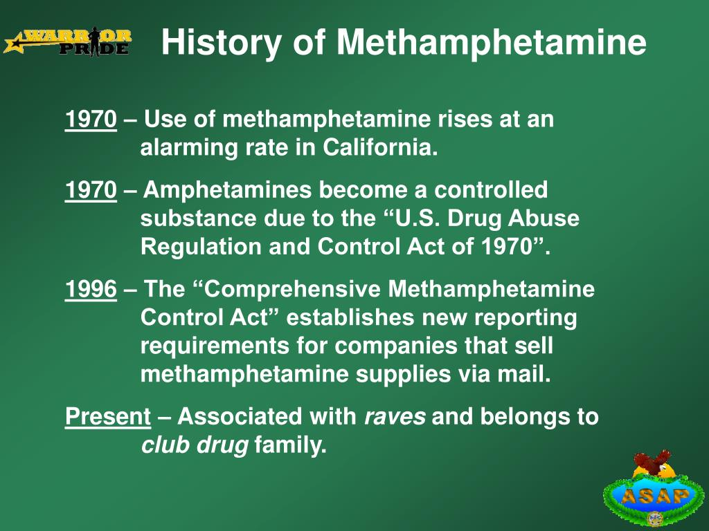 History of Methamphetamine