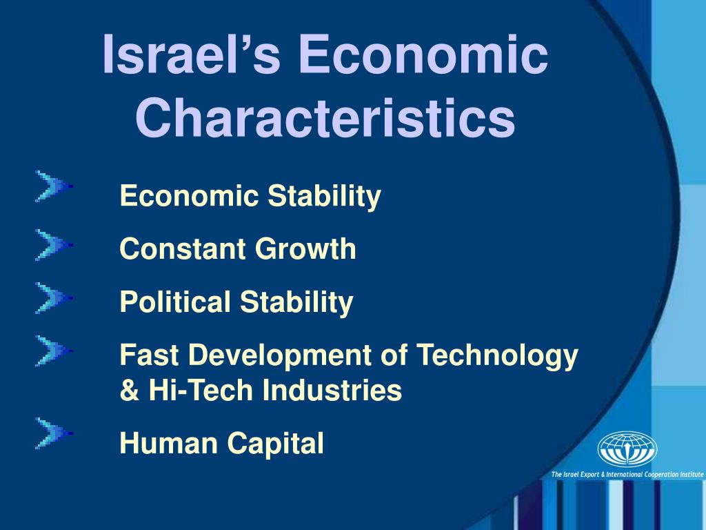 Israel's Economic Characteristics