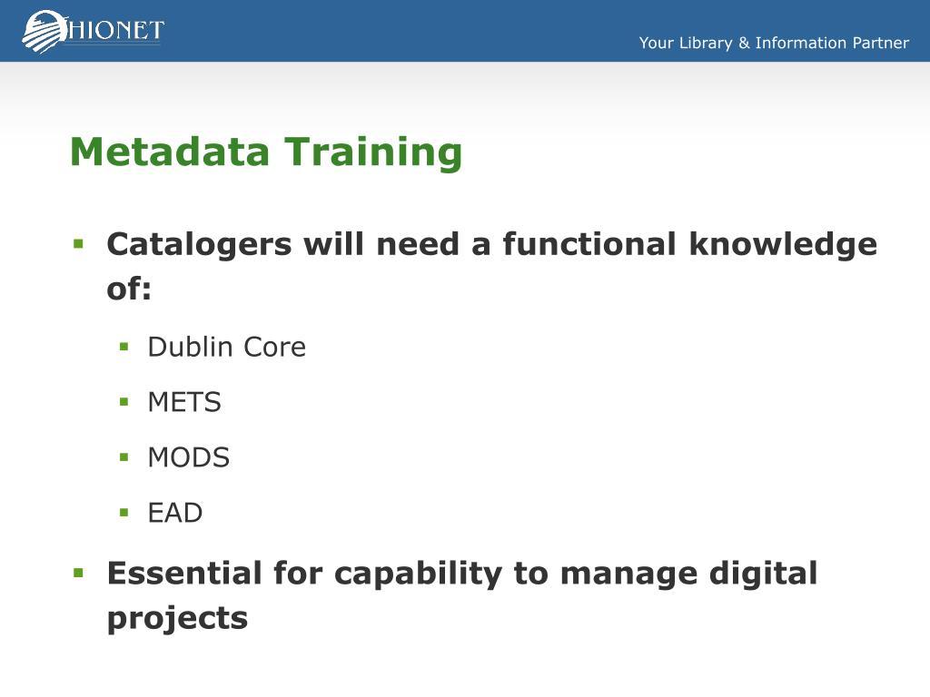 Metadata Training