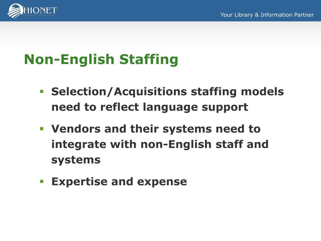 Non-English Staffing