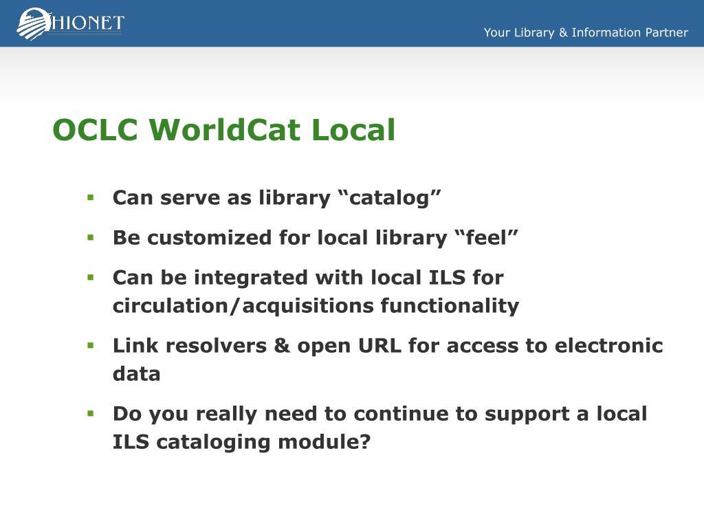 OCLC WorldCat Local