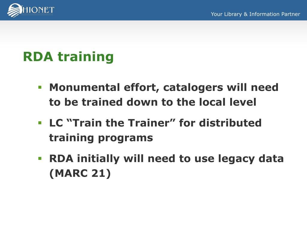 RDA training