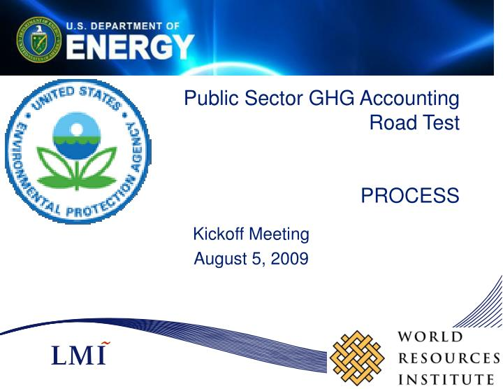 Public sector ghg accounting road test process
