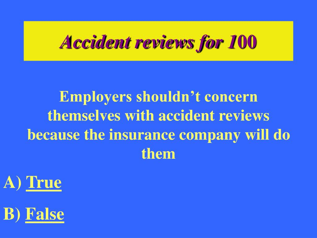 Accident reviews for 1