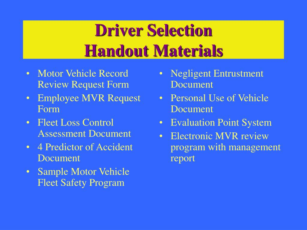 Motor Vehicle Record Review Request Form