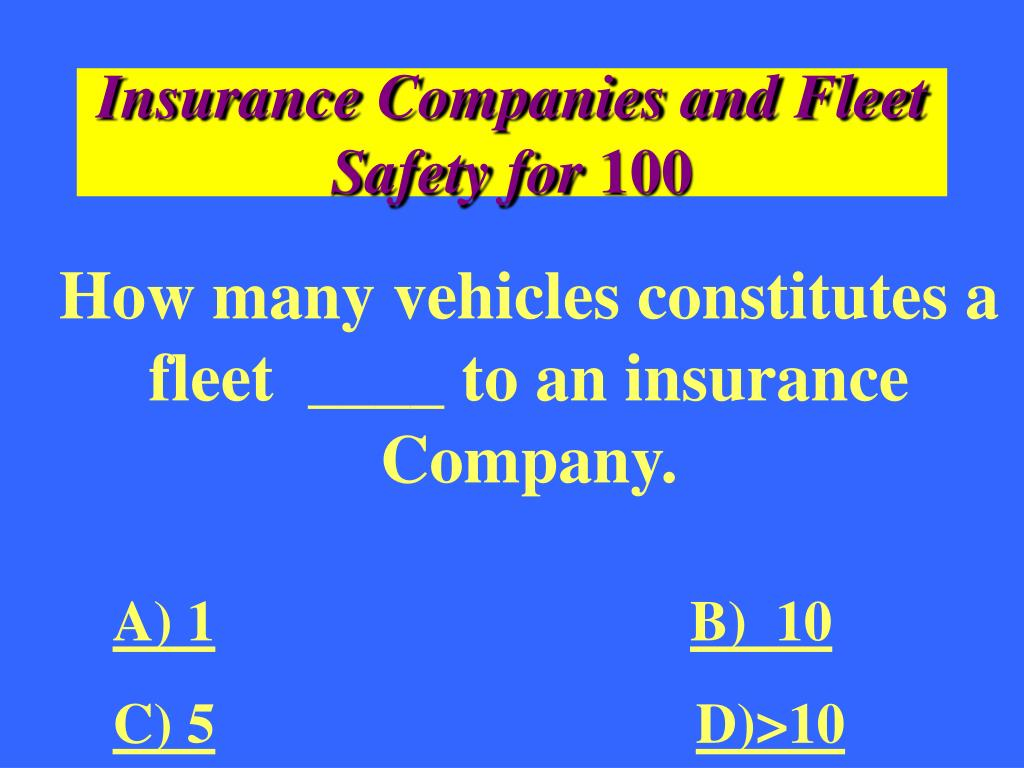 Insurance Companies and Fleet Safety for