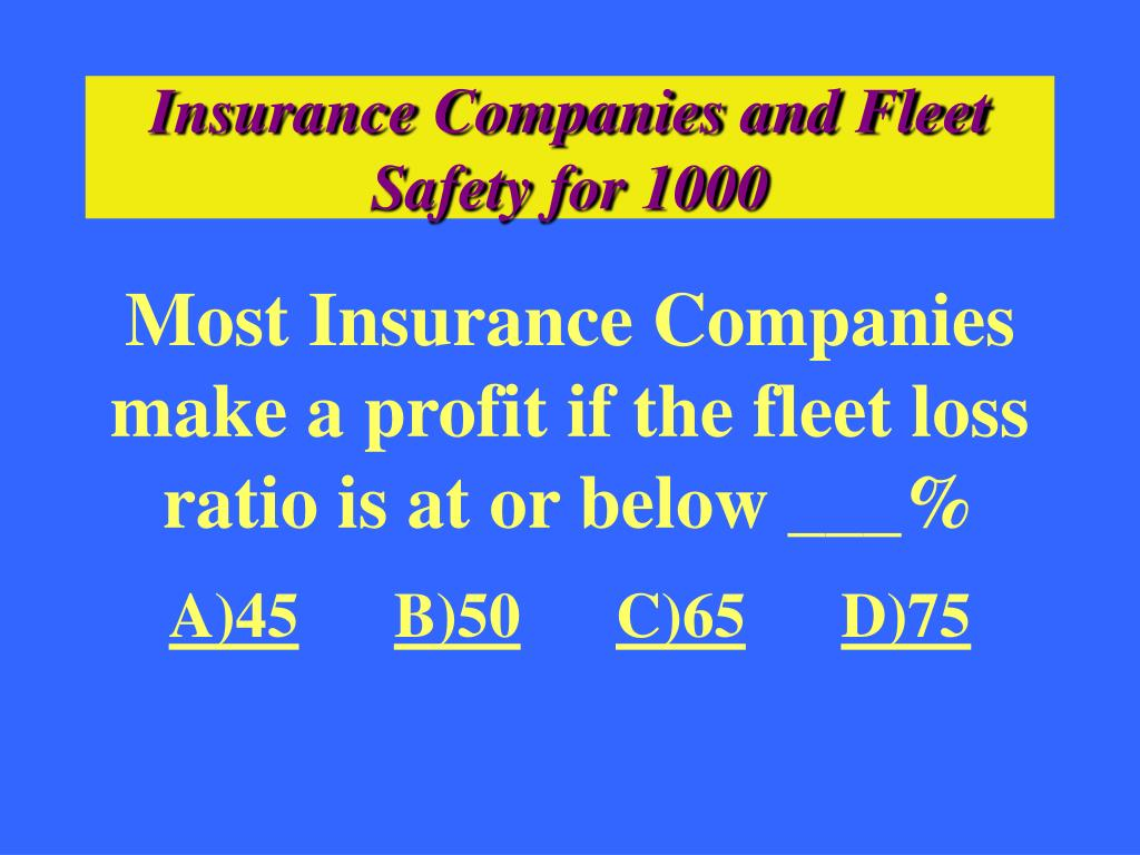 Insurance Companies and Fleet Safety for 1000