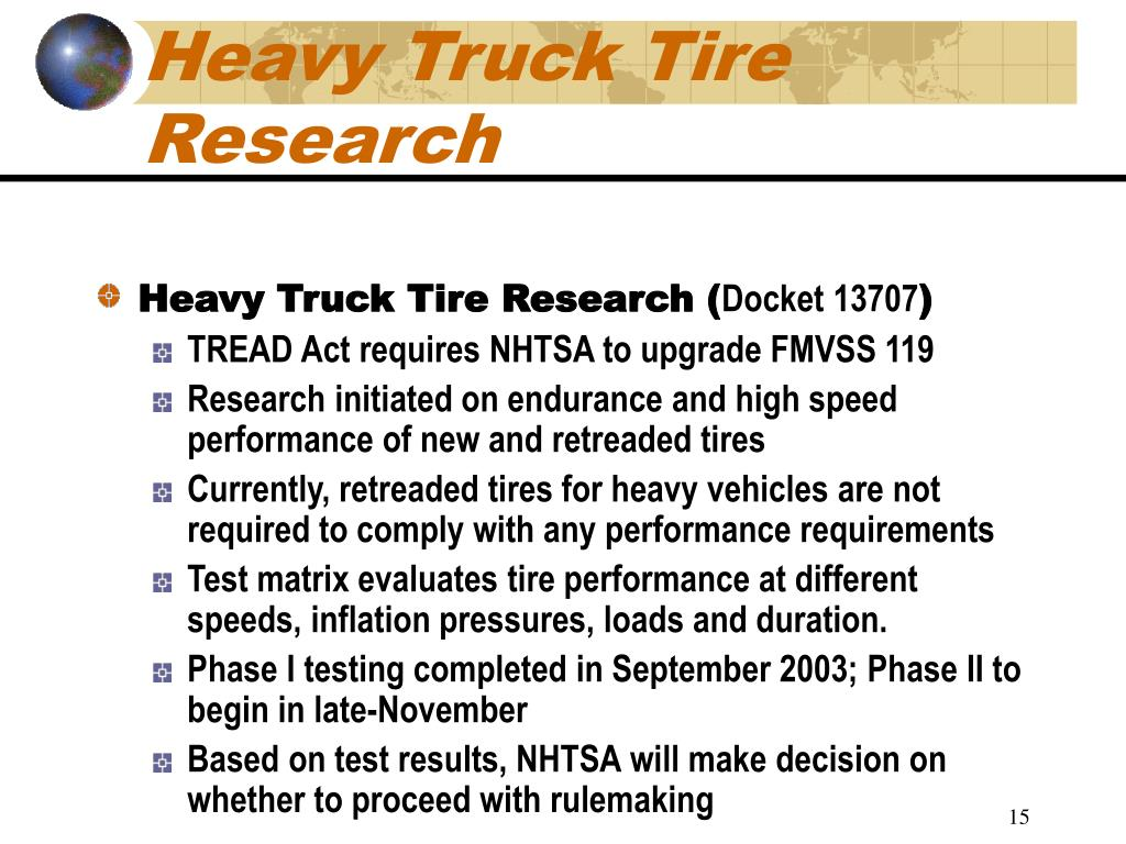 Heavy Truck Tire Research