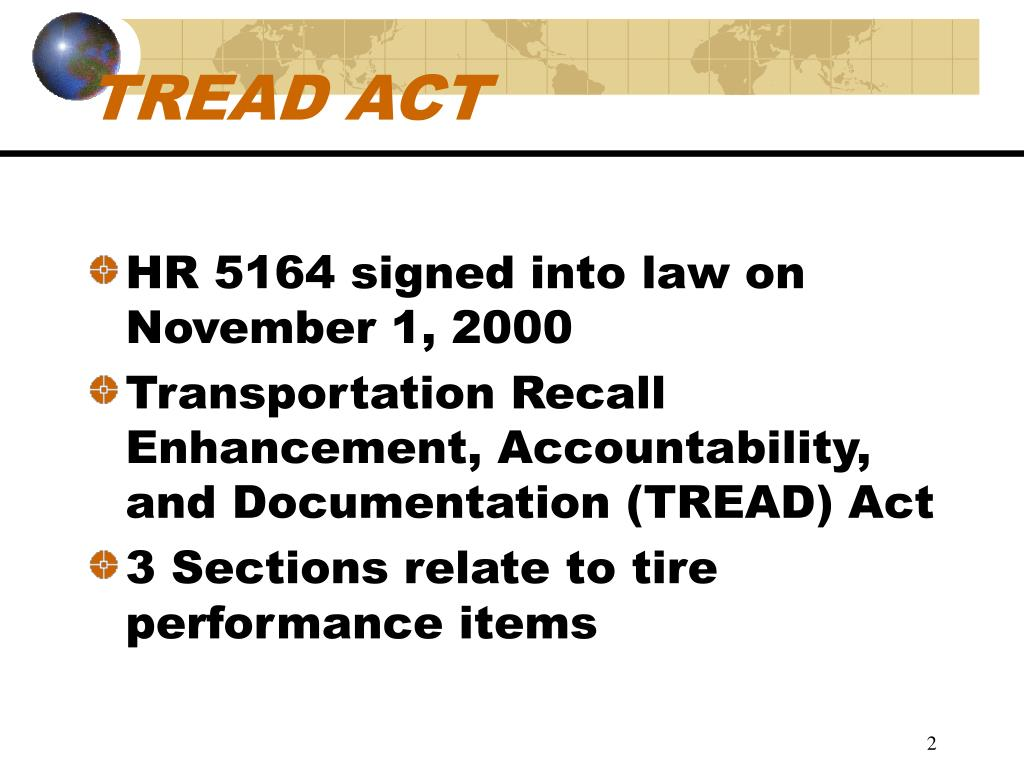 TREAD ACT