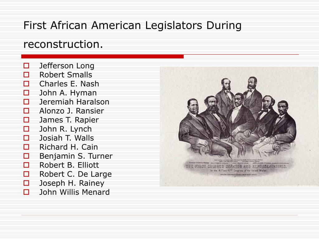 african american reconstruction Start studying african american reconstruction learn vocabulary, terms, and more with flashcards, games, and other study tools.