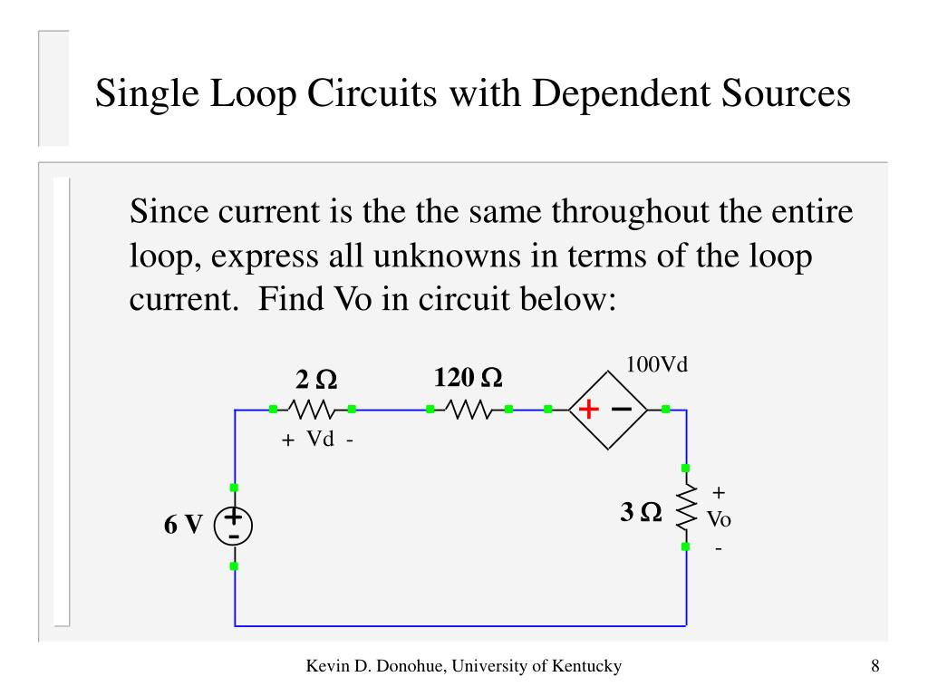 Single Loop Circuits with Dependent Sources