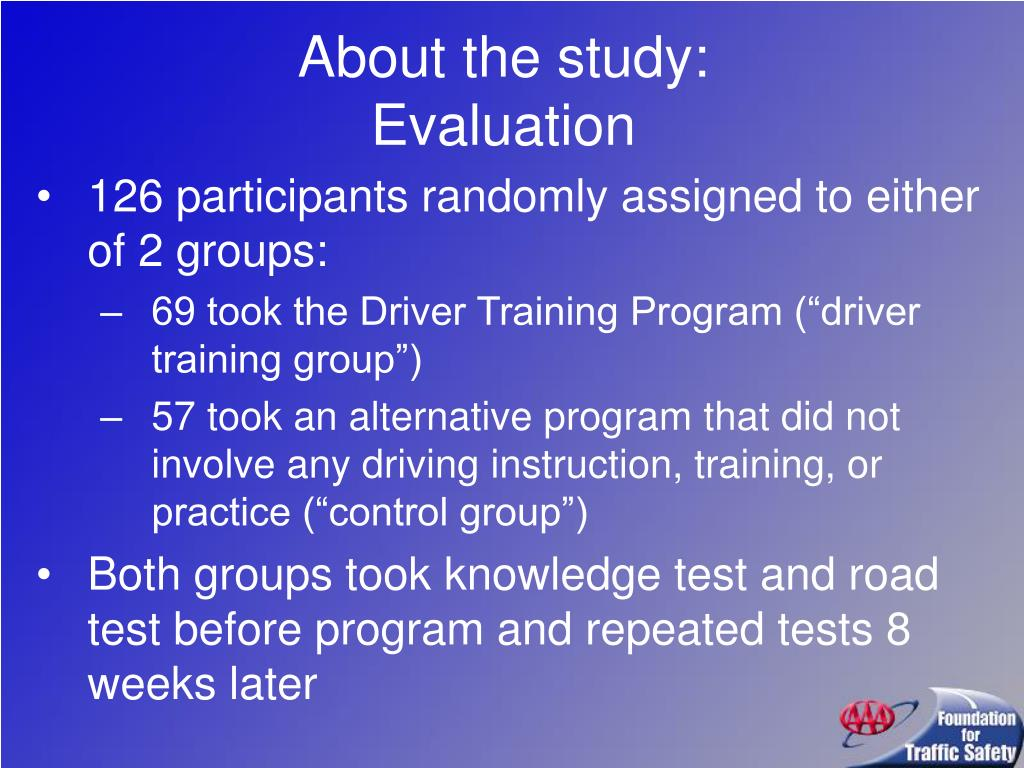 About the study:
