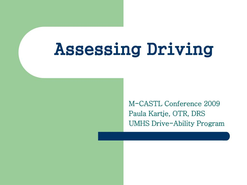 assessing driving