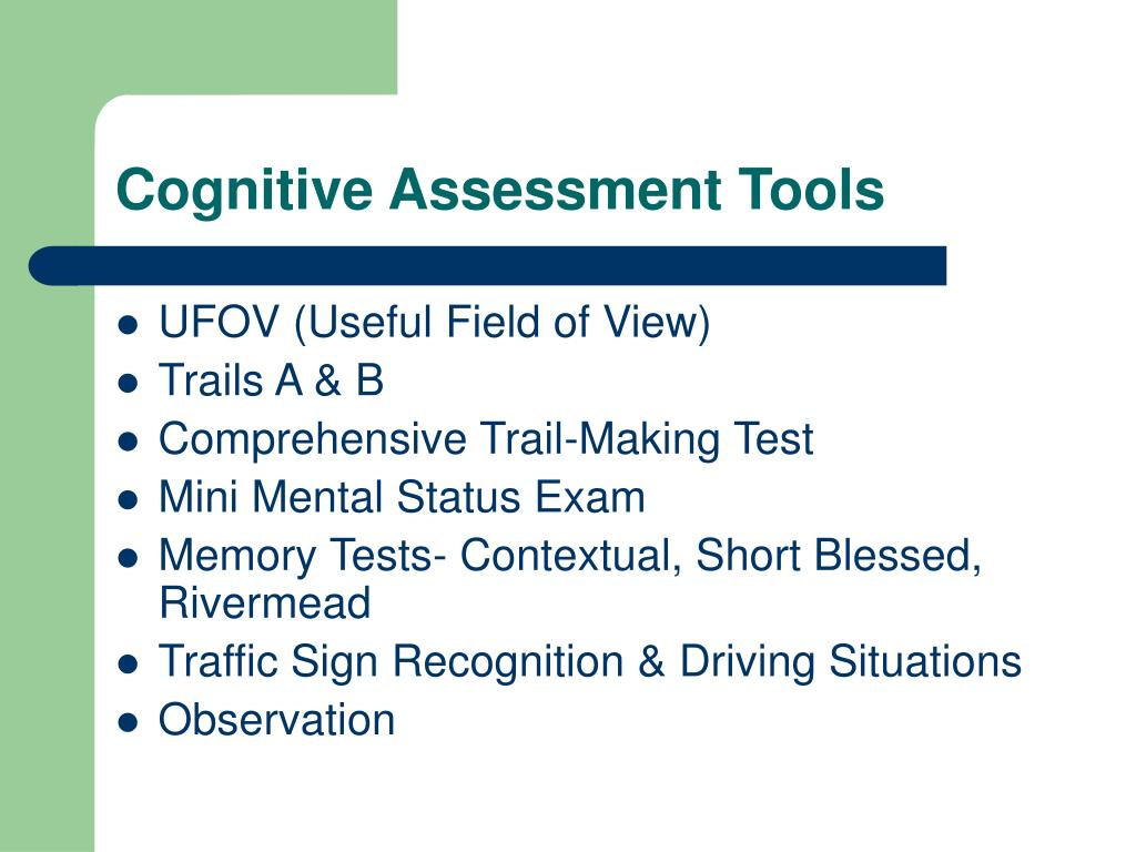 Cognitive Assessment Tools